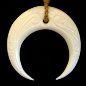 Special bone carved pendant