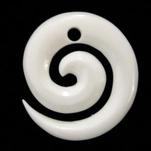 Bone spiral pendant