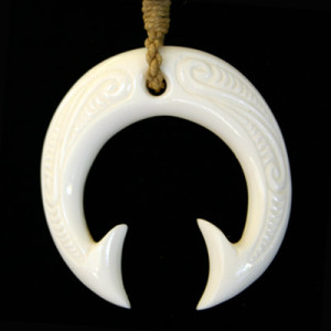 Carved bone tails necklace