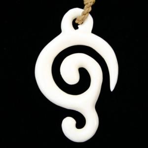polynesian bone pendant