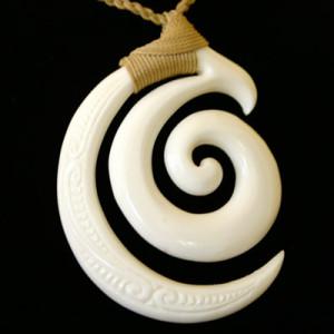 Spiral bone pendant
