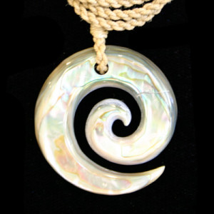 beautiful carved shell twist necklace