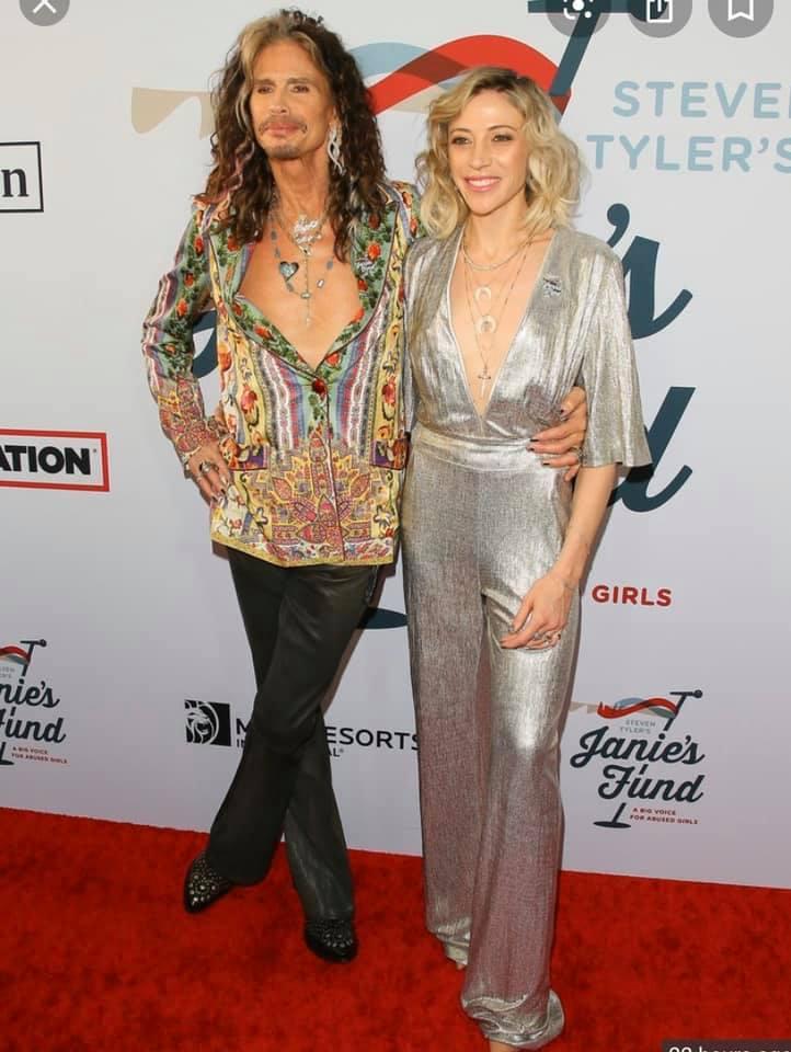 Steven Tyler Aimee wearing Tafu bone pendants